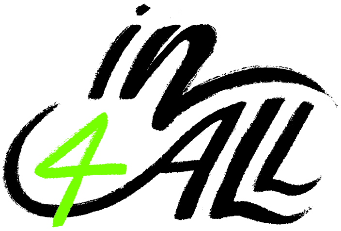 In4All black green logo