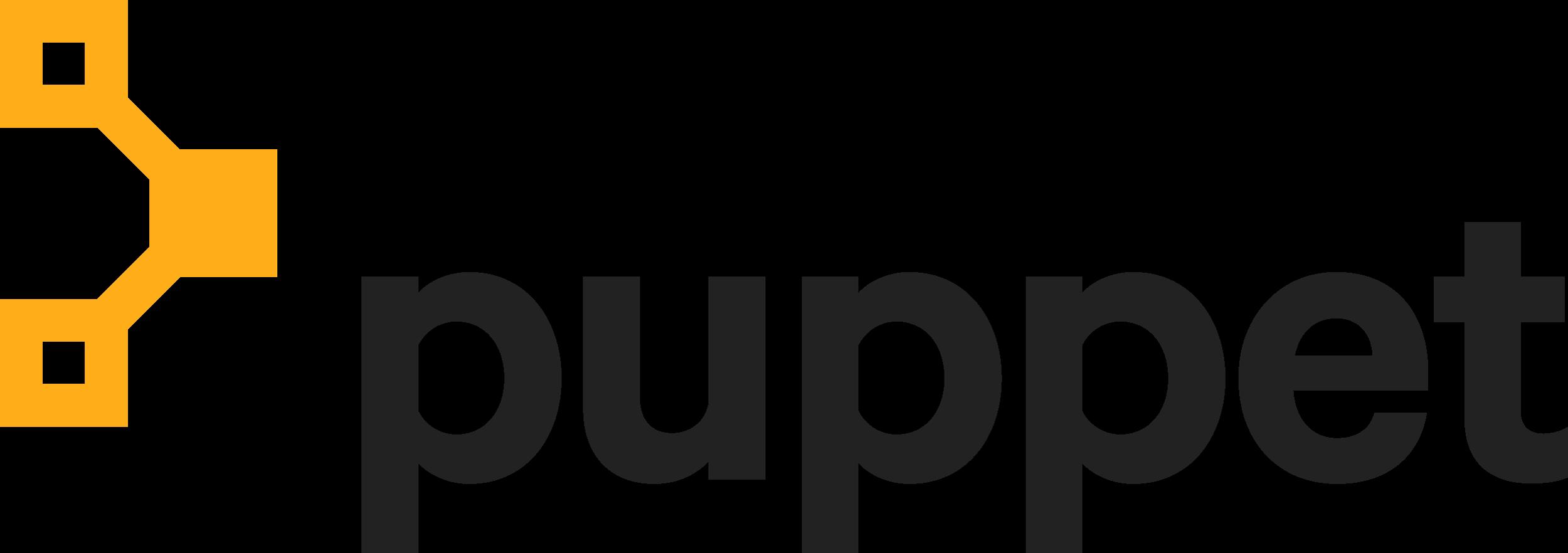 Puppet Logo Amber Black lg