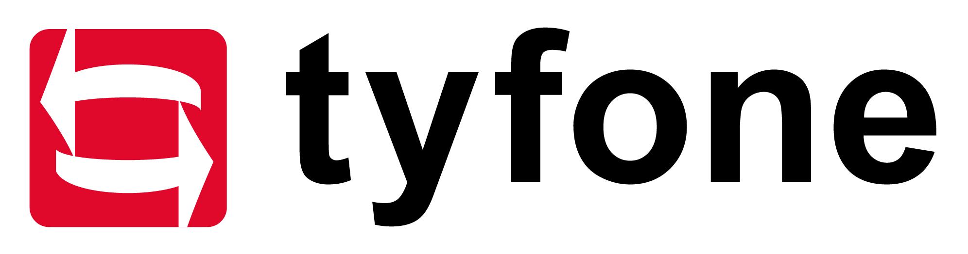 Tyfone logo blk txt wht bg