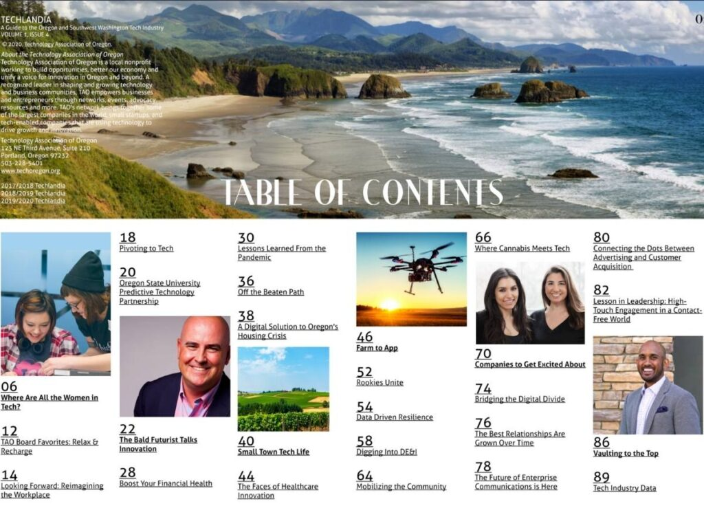 Techlandia Table of Contents