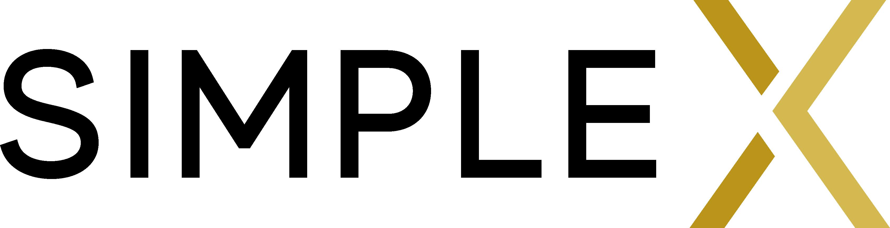 Simple X Logo Black