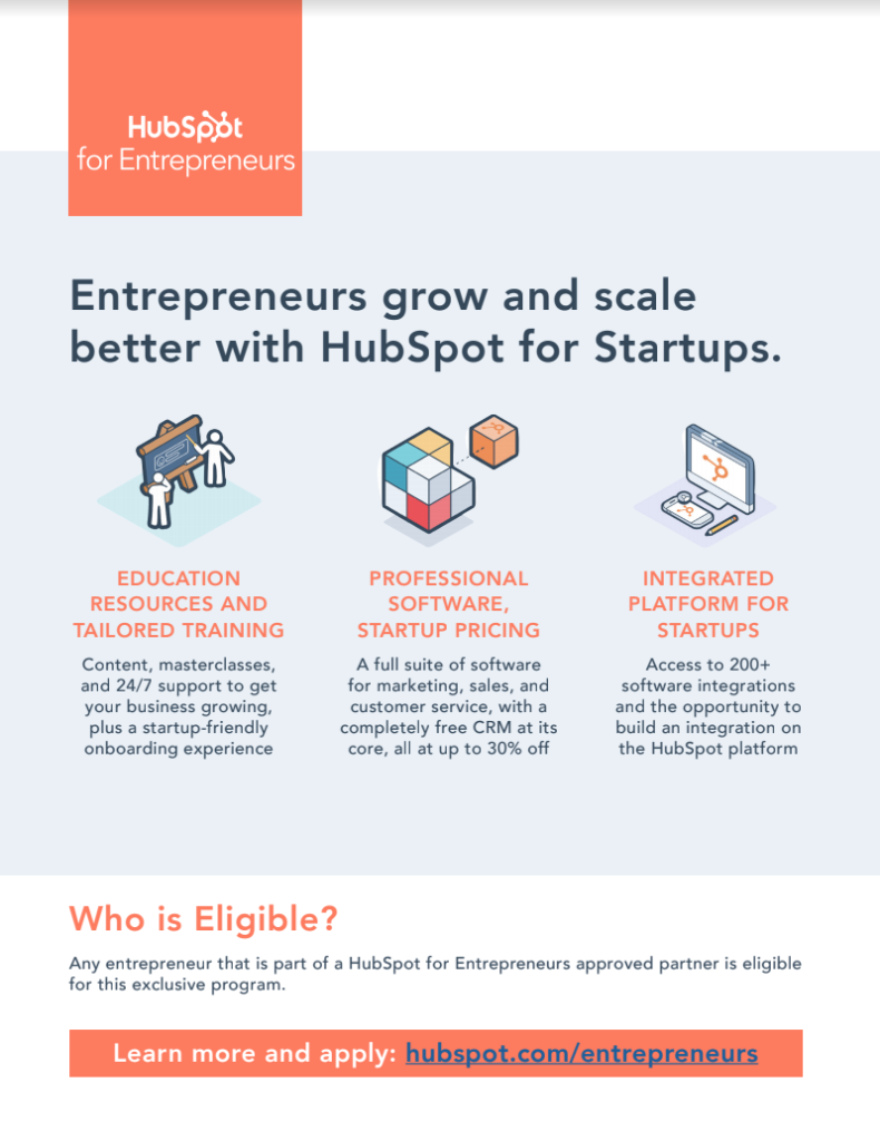 HubSpot for Entrepreneurs One-Pager