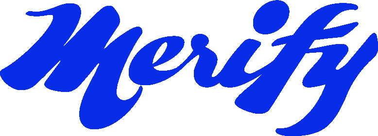 Merify Wordmark Blue